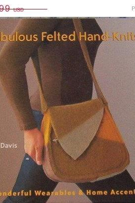 ON SALE Fabulous Felted Hand Knits Book by Jane Davis