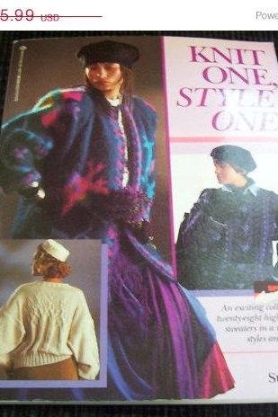 ON SALE Knit One, Style One Womens Knit Pattern Sweater Book