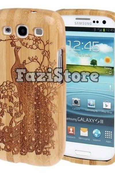Galaxy S3 Case, Peacock Phone Case, Samsung Galaxy S3 Case, Bamboo Phone Case, Samsung Galaxy S III Case