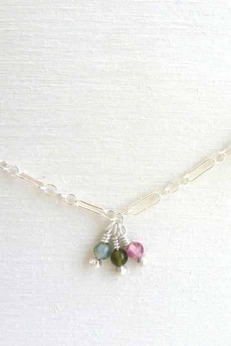 Tourmaline Necklace in Sterling Silver