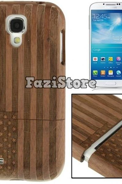 Samsung Galaxy S4, USA Flag Samsung Galaxy S4 Case, Galaxy S4 Case, Samsung S4 Case, Wood Phone Case