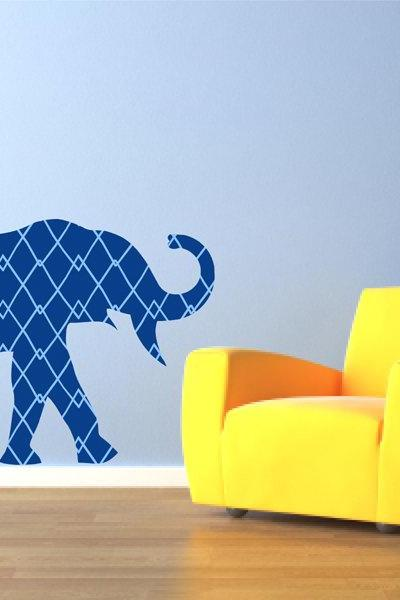 Blue Elephant Wall Decal for Kids and Nursery