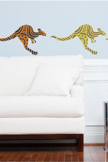 Kangaroo wall decals