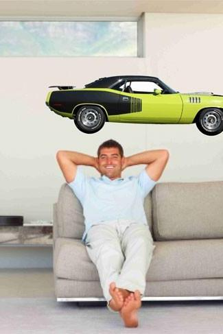 Muscle Car Wall Decal 1971 Plymouth Hemi Cuda