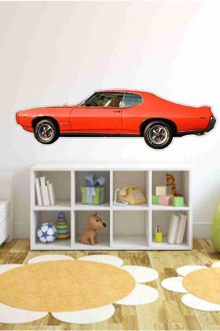 Muscle Car Wall Decals-1969 Pontiac GTO Judge