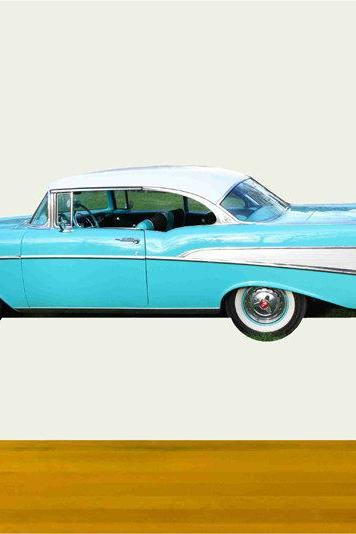 Classic Car Wall Decals 1957 Chevy Coupe