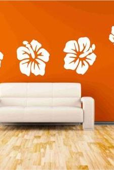 Hibiscus Flower Wall Decals