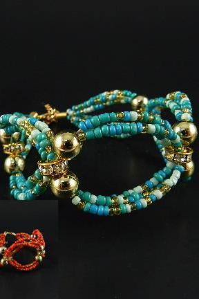 Stretch Bracelet Turquoise or Red