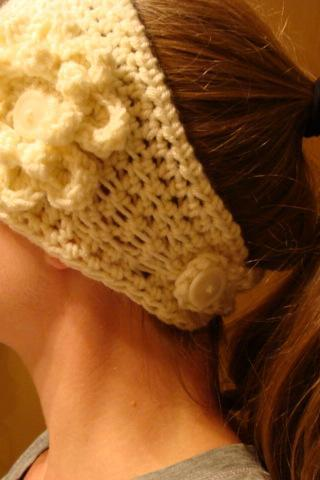 Crochet Head Warmer Cream Do Bop Diva