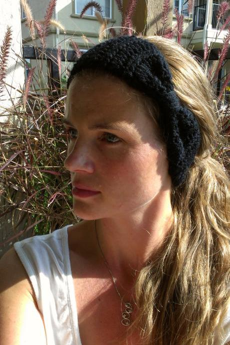 Crochet Head Warmer Black Do Bop Darling