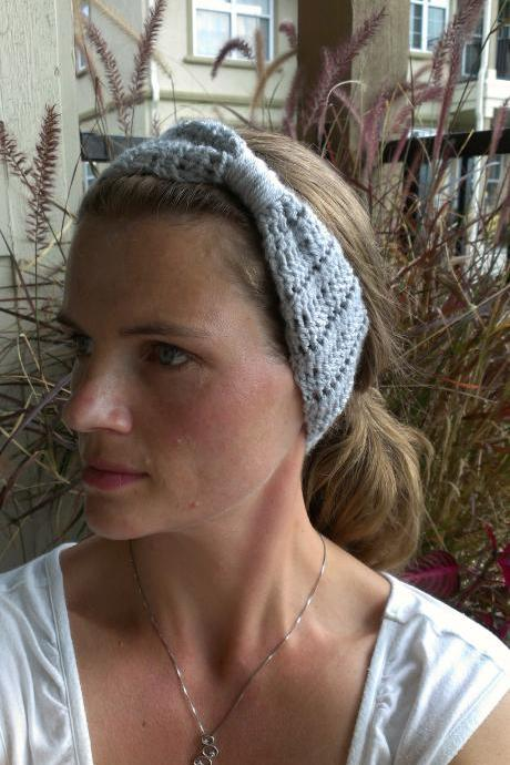 Crochet Head Warmer Cloud Grey Do Bop Darling