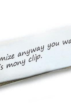 Personalized Money Clip Holder Customize Men Father Gift engraved Accessory Husband Boyfriend Wedding Birthday