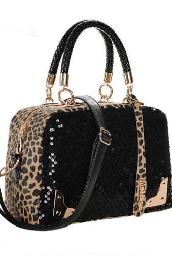 Cool Leopard Sequins Handbag & Shoulder Bag