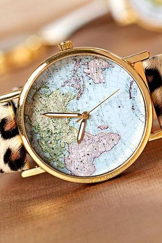 World Map Fashion Watches JCFCF