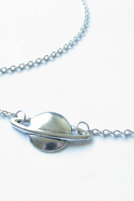 Planet Saturn Necklace Space astronomical Jewelry gift for her astronomy