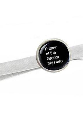 Customize Photo Tie Clip Father of the Bride or Groom Personalized Wedding Date Men Dad Gift or your own photo