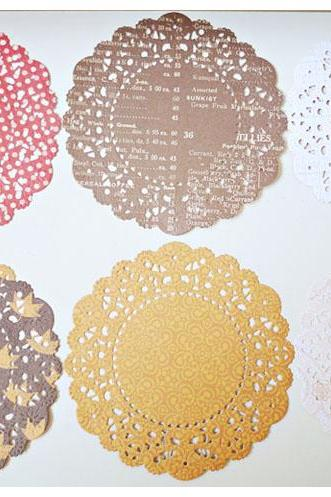 Autumn English Doily paper / pack for cardmaking, party decoration, scrapbooking
