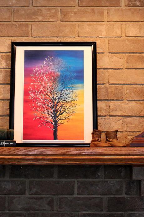 Seasons Tree Print of Original Oil Painting 12' x 18'