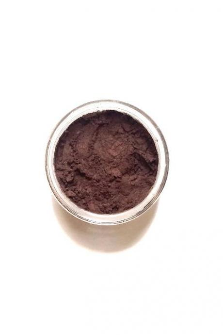 Cocoa - Warm Brown with Reddish Undertones Mineral Eyeshadow - Handcrafted Makeup