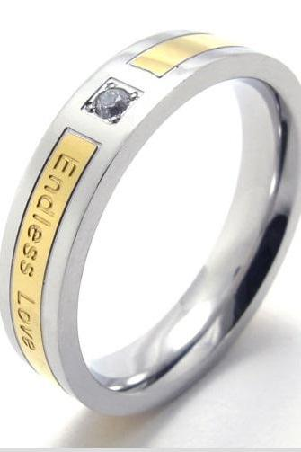 Endless Love Promise Ring Band for Her - 5 thru 9 (available in 2 colors)