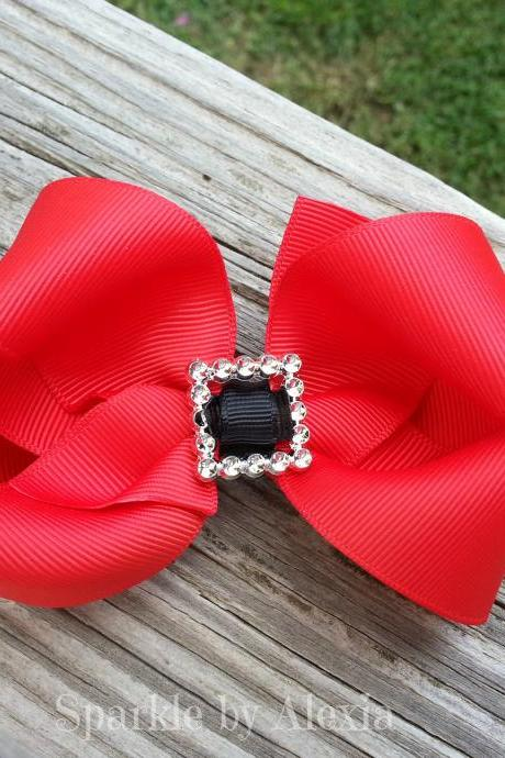 Christmas Santa Hair Bow