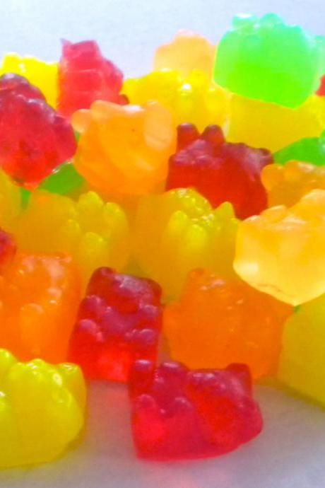 Soap - Gummy Bears Candy - 45 Mini Soaps - Soap for Kids - Party Favors - Birthdays