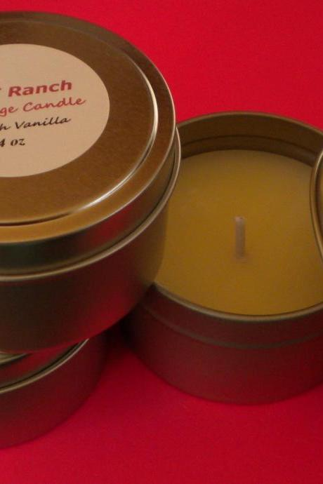 Candle - Massage Candle - Soy Candle - Warm Vanilla Sugar scented - 4 oz