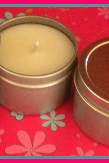 Soy Candle - French Vanilla scented - Travel Candle - 2 oz