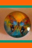 Magnets - Paintbox Butterflies - Set of 3 --1 Inch Domed Glass Circles