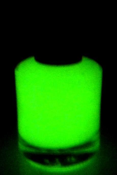 Glow-in-the-Dark Nail Polish - Light Green - VENUS - Custom Blended Nail Polish/Lacquer - Regular Full Sized Bottle (15 ml size)
