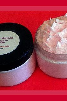 Whipped Soap - Soap in a Jar - Pomegranate - 4 oz
