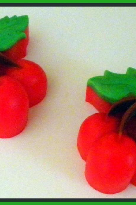 Soap - Cherries - Cherry - Fruit Soap - Party Favors, Showers, Birthdays
