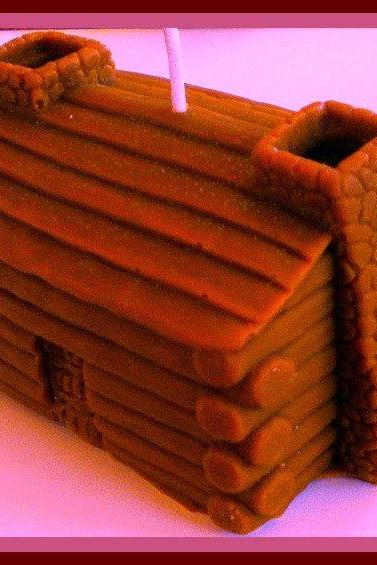 Soy Candle - Log Cabin - 3 Dimensional - Candle