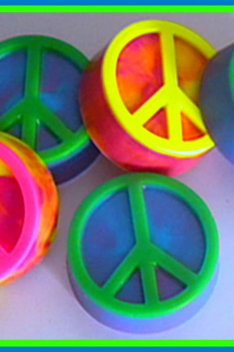 Soap - Tie Dye - Peace Sign - Retro - Hippie - Choose your colors and scent