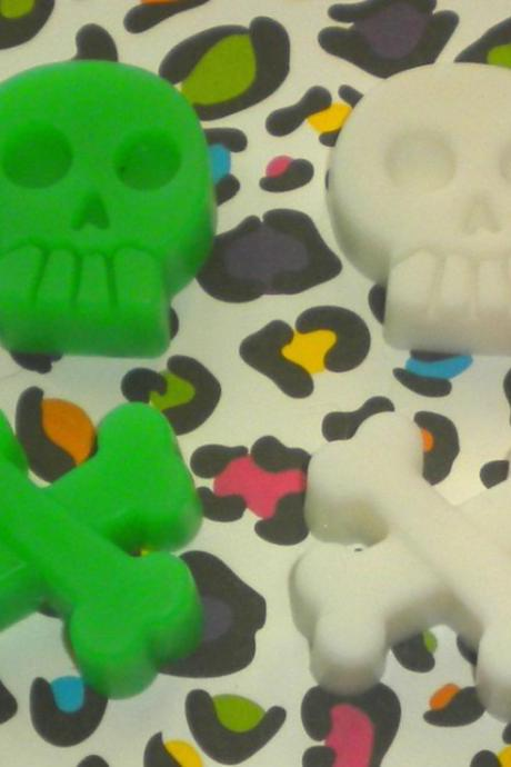 Soap - Skull and Crossbones - NEW - 4 Soap Set - You Choose Colors and Scent - Soap for Kids - Party Favors, Birthdays