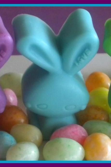 Soap - Rabbit - Set of 3 - Lavender, Pastel Blue, Pastel Green