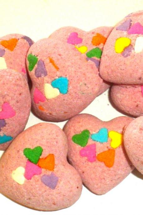 Heart Bath Fizzies - Bath Bombs - Polynesian Red Scented