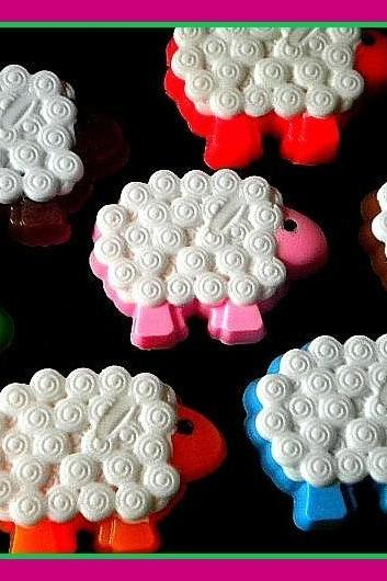Soap - Sheep - Sheep Soap - Your Choice of Scent and Color - Weddings - Baby Showers - Birthdays