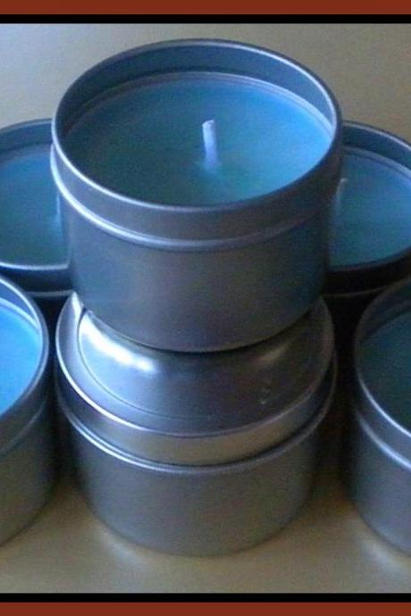 Candle - Soy Candle - Candle Tin - Travel Candle - Oatmeal, Milk and Honey scented - 2 oz
