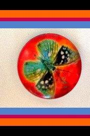 Magnets - Butterflies - Magnet Set of 3 -1 Inch Domed Glass Circles