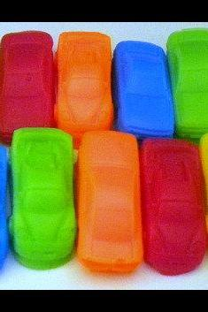 Soap - Mini Race Cars - 10 Soaps - Cars - Soap for Boys - Party Favors, Birthdays