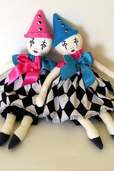 Cloth Rag Dolls, Soft Ooak Dolls, Art Cloth Rag Dolls, Soft Rag Doll, Ooak art dolls
