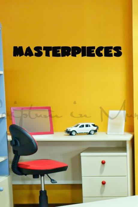 Masterpieces - Child's Artwork Display Vinyl Decal