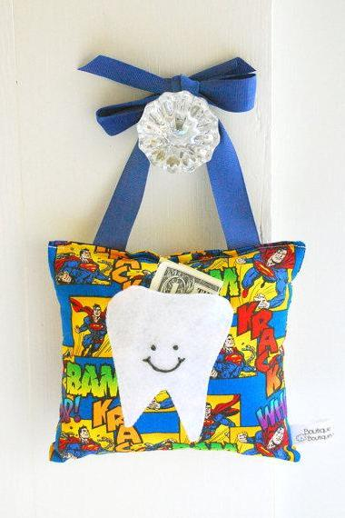 Superman Tooth Fairy Pillow for Boys