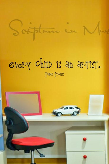 Every Child Is An Artist Vinyl Decal