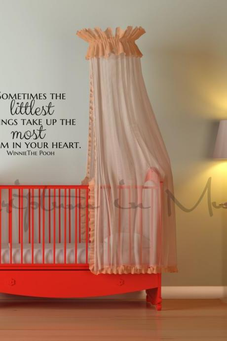 Sometimes The Littlest Things Take Up The Most Room In Your Heart Decal