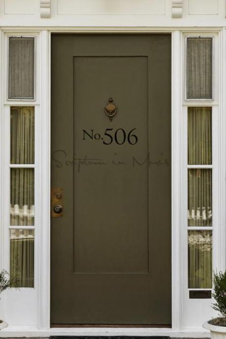 Address Number Door or Mailbox Vinyl Decal - Large