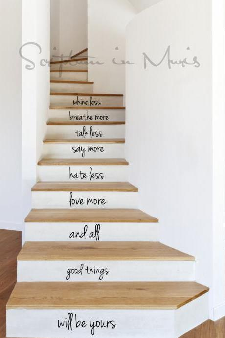 All Good Things Stairs Decal - Custom