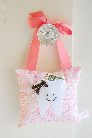 Shabby Chic Girls Tooth Fairy Pillow