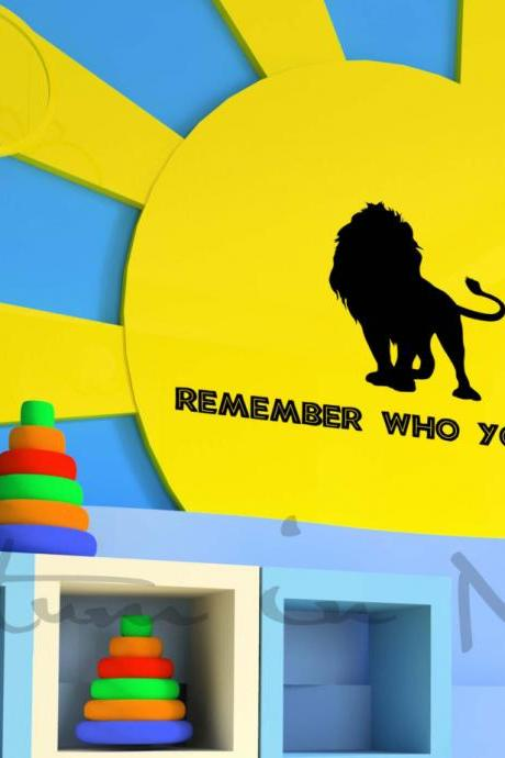 Lion King Remember Who You Are Vinyl Decal